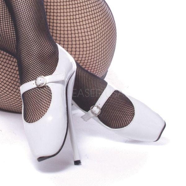 BALLET-08 weiss Lack     Ballett High Heel Pumps weiss Lack aus der Devious Kollektion von Pleaser USA